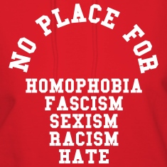No Place For Homophobia Hoodies