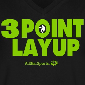 3 POINT LAYUP T-Shirts - Men's V-Neck T-Shirt by Canvas