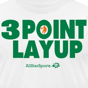 3 POINT LAYUP T-Shirts - Men's T-Shirt by American Apparel