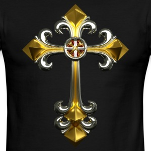 Gothic Cross Men's Ringer T-Shirt - Men's Ringer T-Shirt