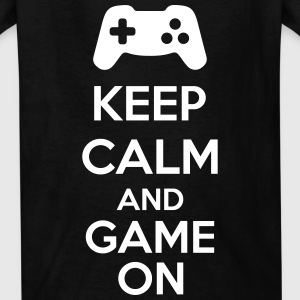 Keep Calm And Game On Kids' Shirts - Kids' T-Shirt