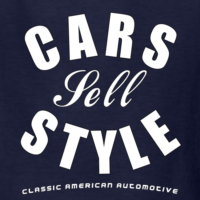 Kids T-Shirt   Cars Sell Style   Classic American Automotive