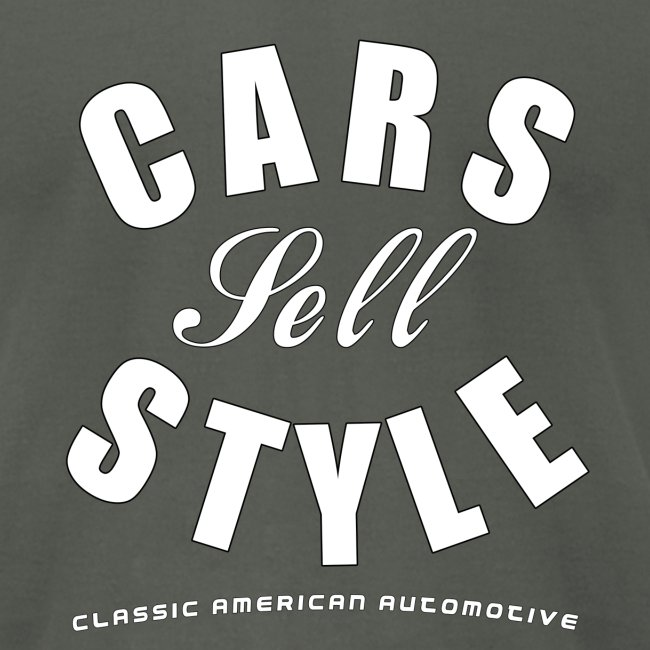 American Apparel T-shirt   Cars Sell Style   Classic American Automotive