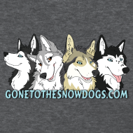 Design ~ Gone to the Snow Dogs - Women's T-Shirt Standard Weight
