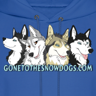 Design ~ Gone to the Snow Dogs - Men's Hoodie