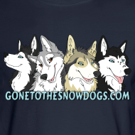 Design ~ Gone to the Snow Dogs - Men's Long Sleeved