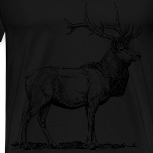 elk animal - Men's Premium T-Shirt