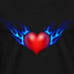 Burning Heart - Men's Premium T-Shirt