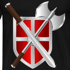Sword Battleaxe Shield - Men's Premium T-Shirt