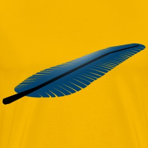 blue Feather - Men's Premium T-Shirt