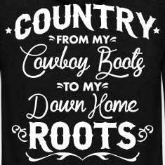 Country from my cowboy boots to my down home roots Zip Hoodies & Jackets