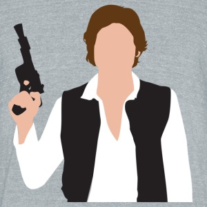 captain solo T-Shirts - Unisex Tri-Blend T-Shirt by American Apparel