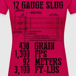 12 Gauge Slug - Women's Premium T-Shirt