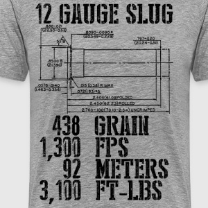 12 Gauge Slug - Men's Premium T-Shirt