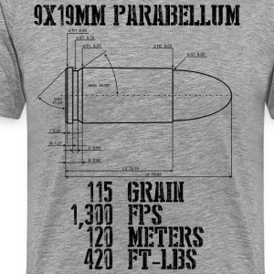 9x19mm Parabellum - Men's Premium T-Shirt