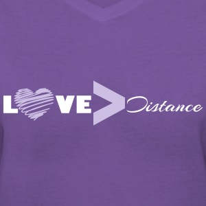 Love vs Distance - Women's V-Neck T-Shirt