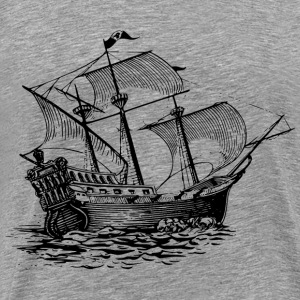Galleon sail ship - Men's Premium T-Shirt