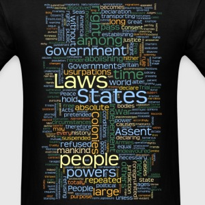 Declaration of Independence Tag Cloud - Men's T-Shirt