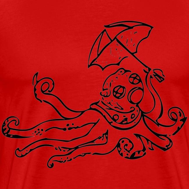 Octo Diver Black Logo