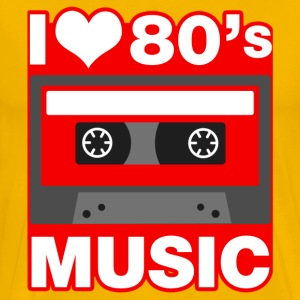 I Love 80's Music T-Shirts - Men's Premium T-Shirt