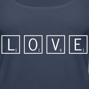 love game tiles Tanks - Women's Premium Tank Top