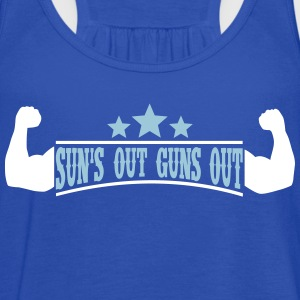 Sun's out Guns out Tanks - Women's Flowy Tank Top by Bella