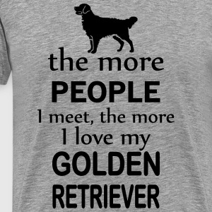 The More People I Meet The More I Love My Labrado T-Shirts - Men's Premium T-Shirt