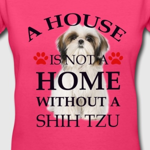 i house is  not a home without a shih tzu Women's T-Shirts - Women's V-Neck T-Shirt