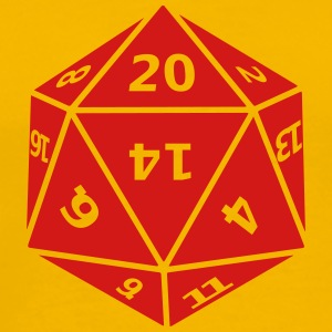 Twenty Sided Dice - Men's Premium T-Shirt