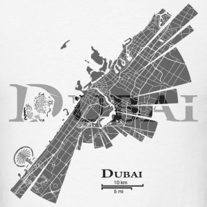 Dubai Map T-Shirts - Men's T-Shirt