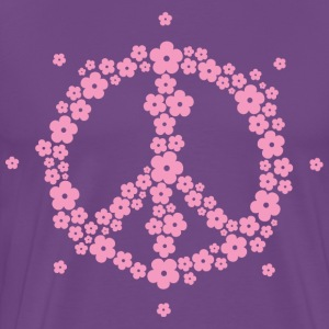 Flower Hippie Peace 60's Sign Psychedelic Symbol T - Men's Premium T-Shirt