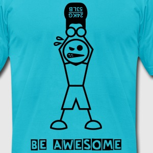 Be Awesome - Men's T-Shirt by American Apparel