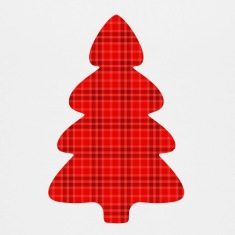 Christmas tree tartan Kids' Shirts