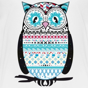 colorfully patterned owl Kids' Shirts - Kids' Premium T-Shirt