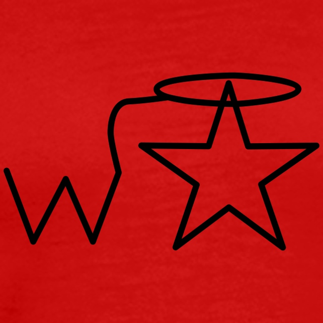 Men's Black Logo S-3X Wranglerstar