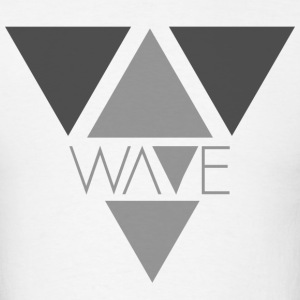 White Minimalist Wave T-Shirt - Men's T-Shirt