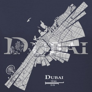 Dubai Map Women's T-Shirts - Women's V-Neck T-Shirt