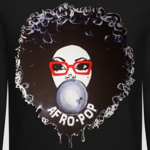 Afro pop_Global Couture Long Sleeve Shirts - Crewneck Sweatshirt