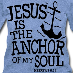 JESUS IS THE ANCHOR OF MY SOUL - Women's Wideneck Sweatshirt