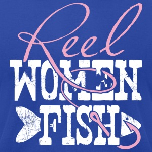 Reel Women Fish - Men's T-Shirt by American Apparel