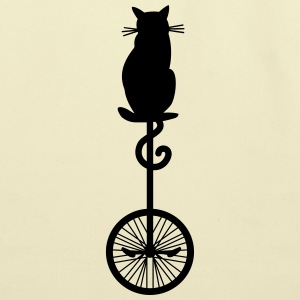 cat_unicycle Bags & backpacks - Eco-Friendly Cotton Tote