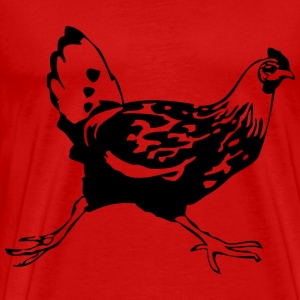 Running Chicken - Men's Premium T-Shirt