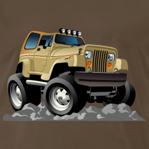 funny jeep on the ground - Men's Premium T-Shirt