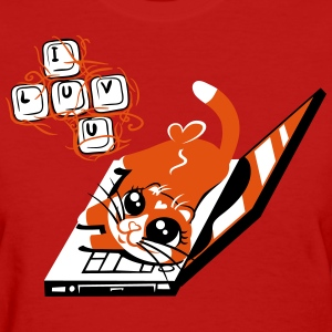 Cuddles Van Lovey writes a love letter - Women's T-Shirt