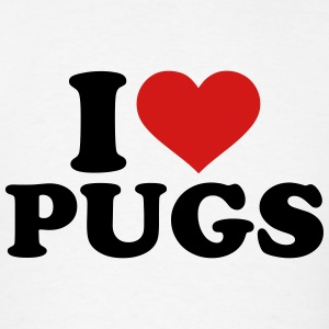I love Pugs T-Shirts - Men's T-Shirt