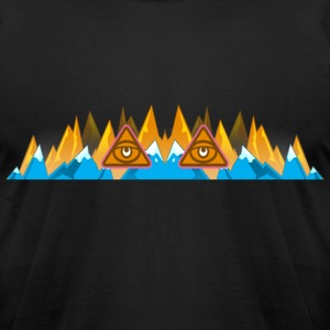 Illuminati Mountains - Men's T-Shirt by American Apparel