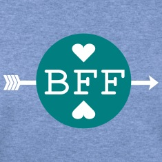 BFF BEST FRIENDS FOREVER TEXT Womens Wideneck Swea