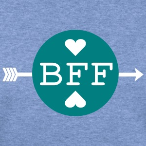 BFF BEST FRIENDS FOREVER TEXT Womens Wideneck Swea - Women's Wideneck Sweatshirt