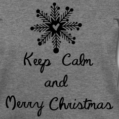 Keep calm and merry christmas Womens Wideneck Swea