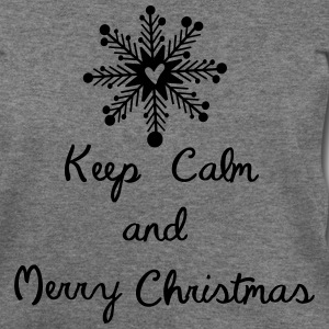 Keep calm and merry christmas Womens Wideneck Swea - Women's Wideneck Sweatshirt